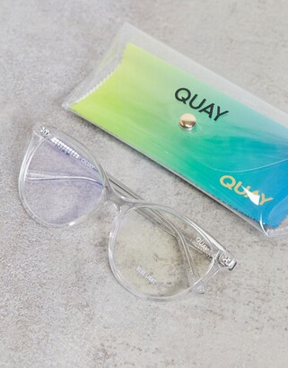 Quay All Nighter blue light glasses in clear