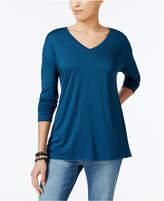 Style&Co. Style & Co V-Neck Drop-Shoulder Top, Created for Macy's