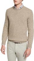 Ermenegildo Zegna Seamless Yak Crewneck Sweater, Oatmeal