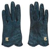 Blumarine Metallic Logo Gloves