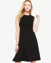 Ann Taylor Lace Trim Flare Dress