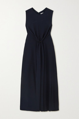 Victoria Beckham Gathered Cady Midi Dress