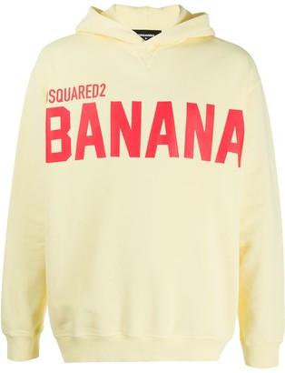 DSQUARED2 Banana-print hooded sweatshirt