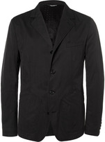 Dolce & Gabbana Black Slim-Fit Cotton-Blend Gabardine Blazer