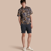 Burberry Tailored Stretch Cotton Shorts