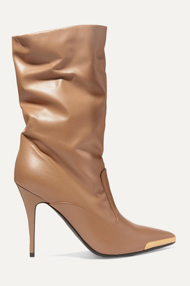 Stella McCartney Embellished Faux Leather Boots - Tan
