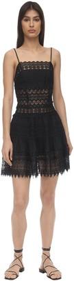 Charo Ruiz Ibiza Joya Embellished Lace Mini Dress