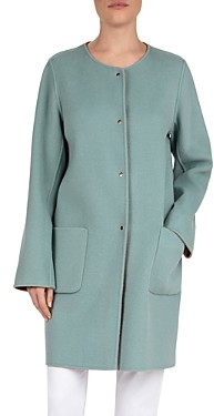 Gerard Darel Double-Face Reversible Wool Coat