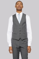 DKNY Slim Fit Light Grey Prince of Wales Check Waistcoat