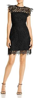 Milly Leila Floral Lace Illusion Dress