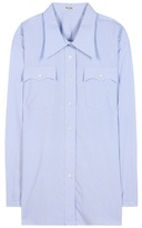 Miu Miu Oversized Cotton Blouse