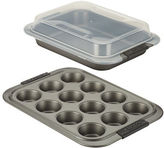 Anolon Advanced Three-Piece Nonstick Bakeware and Shared Lid Set