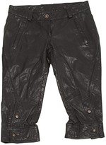 GUESS Black Leather Trousers