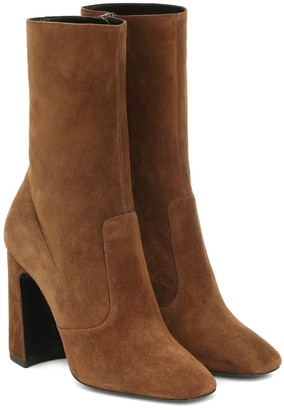 Saint Laurent Maddie 100 suede ankle boots