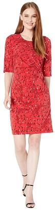 Nic+Zoe Stony Path Drape Dress (Multi) Women's Dress