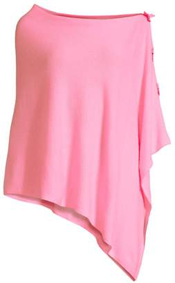 Lilly Pulitzer Harp Side Bow Asymmetric Cashmere Poncho