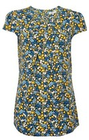 Dorothy Perkins Womens Blue Floral Ditsy Shell Top, Blue