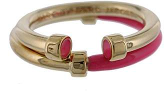 Marc by Marc Jacobs Womens Hula Hoop 2PC Stackable Right-Hand Ring Pink 6