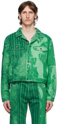 Gr Uniforma GR-Uniforma Green Diesel Edition Bleached Denim Jacket