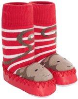 Jo-Jo JoJo Maman Bebe Slipper Socks (Baby) - Monkey-0-6 Months