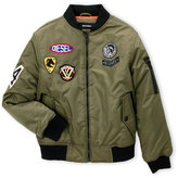 Diesel Boys 4-7) Patched Up Bomber Jacket