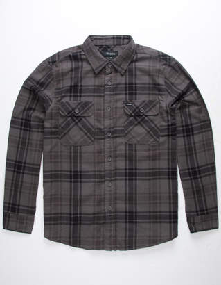 Brixton Bowery Charcoal Mens Flannel Shirt