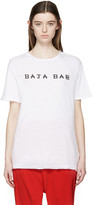 Baja East White Logo T-Shirt