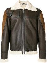 Paul Smith shearling zipped jacket