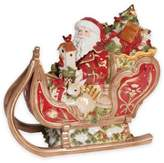 Fitz & Floyd Damask Holiday Sleigh Cookie Jar
