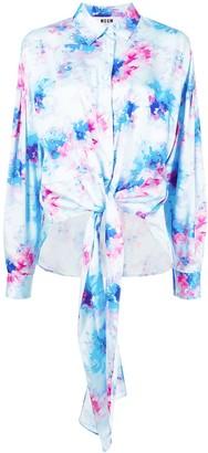 MSGM Tie-Dye Print Shirt
