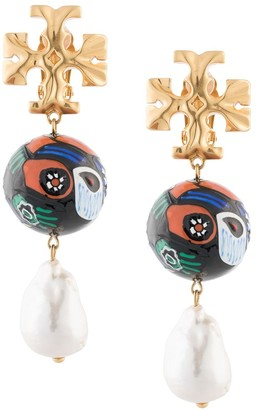 Tory Burch Roxanne ceramic pearl drop earrings