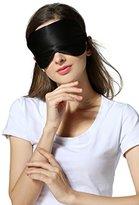 Hamalaya Natural Silk Sleep Mask with Satin Carry Pouch, Black