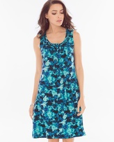 Soma Intimates Sleeveless Braided Neckline Short Dress Tie Dive Dynasty