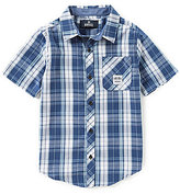 Buffalo David Bitton Big Boys 8-20 Plaid Button-Down Shirt