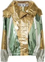 No.21 hooded jacket - women - Polyester/Polyurethane - 48