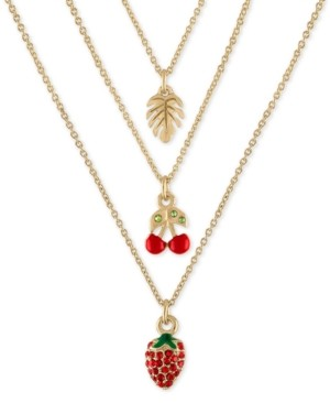 "Rachel Roy Gold-Tone 3-Pc. Set Tropical Pendant Necklace, 16"" + 2"" extender"