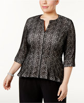 Alex Evenings Plus Size Lace Peplum Jacket