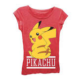 Asstd National Brand Pokemon Girls' Pikachu Sitting Short Sleeve Graphic T-Shirt with Crystalline
