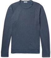 James Perse Loopback Supima Cotton-jersey Sweatshirt - Storm blue