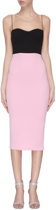 Alex Perry Colourblock fitted dress