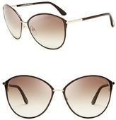 Tom Ford Penelope Oversized Sunglasses, 59mm