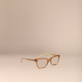Burberry Check Detail Oval Optical Frames