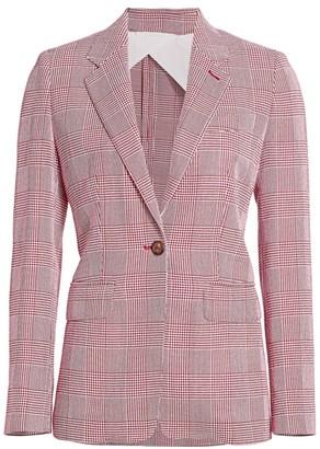 Max Mara Olona Prince Of Wales Check Wool Blazer