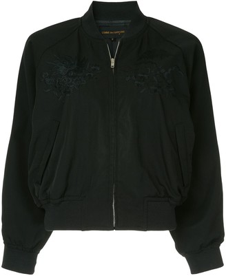 Comme Des Garçons Pre Owned Zipped Fitted Bomber Jacket