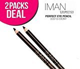 Iman (2 PACK Perfect Eye Pencil Eye Liner, 3 Options (910-Ebony)
