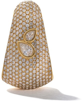 As 29 18kt yellow gold Bombee diamond single earring