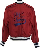 Tommy Hilfiger Red Leather Jacket for Women