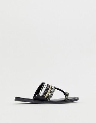 Silvia Rossini Pia toe post flat sandal