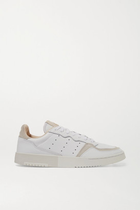 adidas Supercourt Suede-trimmed Leather Sneakers - White