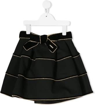 DSQUARED2 metallic trim skirt